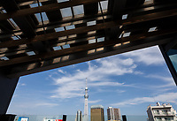 Skytree from the Tourist Center in Asakusa, Tokyo, Japan. Thursday June 28th 2018