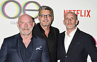 WEST HOLLYWOOD, CA - FEBRUARY 07: (L-R) David Collins, Michael Williams and Rob Eric attend the premiere of Netflix's 'Queer Eye' Season 1 at Pacific Design Center on February 7, 2018 in West Hollywood, California.<br /> CAP/ROT/TM<br /> &copy;TM/ROT/Capital Pictures