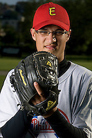 30 April 2008: Eric Segurs of Spain poses during the first of seven 2008 MLB European Academy Try-out Sessions throughout Europe, at Stade Kandy Nelson Ball Park, in Toulouse, France. Try-out sessions are run by members of the Major League Baseball Scouting Bureau with assistance from MLBI staff.