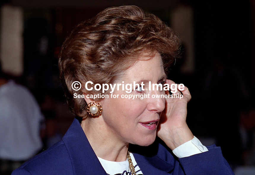 Norma Major, wife, John Major, Prime Minister, MP, Conservative Party, UK, 199510112.<br />