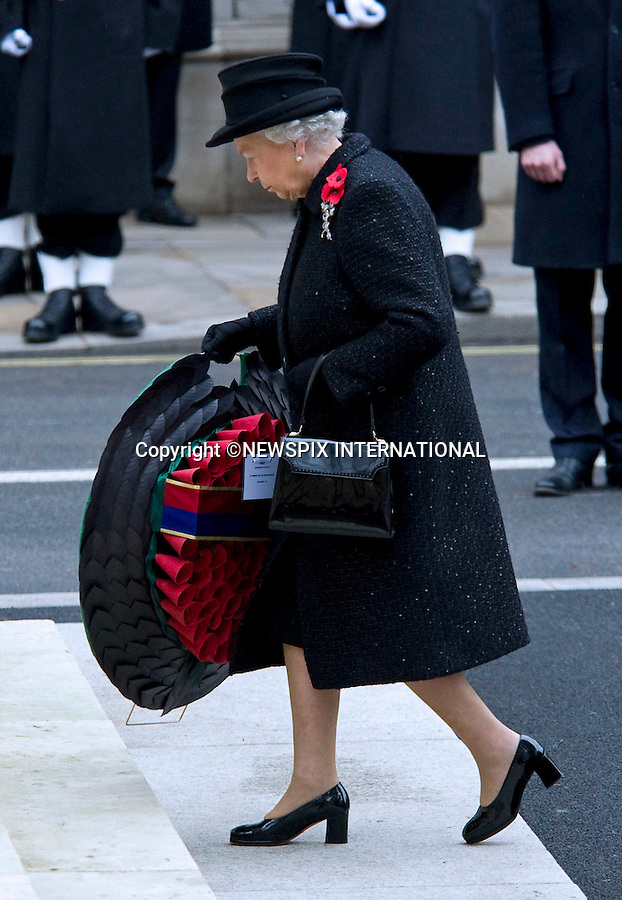 """THE QUEEN.REMEMBRANCE SERVICE 2010.Prince Philip, Prince Charles, Prince Andrew Prince Edward and Princess Anne joined the Queen at the Cenotaph, London for the annual Service of Remembrance_14/11/2010..Mandatory Photo Credit: ©Dias/Newspix International..**ALL FEES PAYABLE TO: """"NEWSPIX INTERNATIONAL""""**..PHOTO CREDIT MANDATORY!!: NEWSPIX INTERNATIONAL(Failure to credit will incur a surcharge of 100% of reproduction fees)..IMMEDIATE CONFIRMATION OF USAGE REQUIRED:.Newspix International, 31 Chinnery Hill, Bishop's Stortford, ENGLAND CM23 3PS.Tel:+441279 324672  ; Fax: +441279656877.Mobile:  0777568 1153.e-mail: info@newspixinternational.co.uk"""