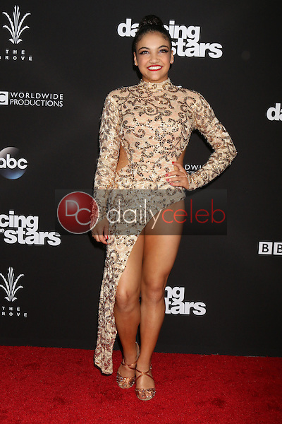 "Laurie Hernandez<br /> at the ""Dancing With The Stars"" Live Finale, The Grove, Los Angeles, CA 11-22-16<br /> David Edwards/DailyCeleb.com 818-249-4998"