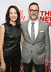 "Evelyn White and Sharr White attends the New Group World Premiere of ""The True"" on September 20, 2018 at The Green Fig Urban Eatery in New York City."