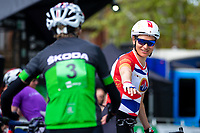 Picture by Alex Whitehead/SWpix.com - 10/05/2018 - Cycling - OVO Energy Tour Series - Round 1: Redditch - Brother Corporate GP. Skoda and Dame Sarah Storey.