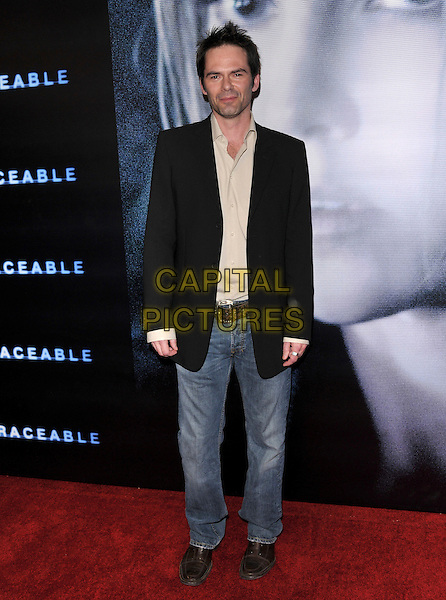 """BILLY BURKE.At the Screen Gems World Premiere of """"Untraceable"""" held at The Silver Screen Theatre in Beverly Hills, California, USA, January 22 2008..full length jeans black suit jacket.CAP/DVS.©Debbie VanStory/Capital Pictures"""