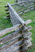Split-rail wooden fence on Bowen island, British Columbia, Canada
