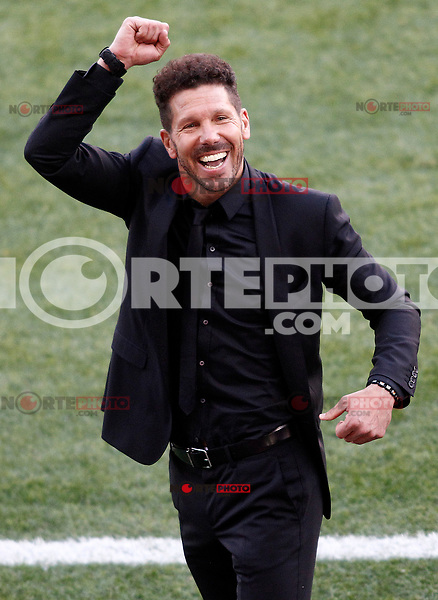 Atletico de Madrid's coach Diego Pablo Cholo Simeone celebrate goal during La Liga match. March 19,2017. (ALTERPHOTOS/Acero) /NORTEPHOTO.COM