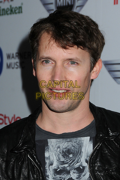 James Blunt .Warner Music Group 2013 Grammy Celebration held at The Chateau Marmont, West Hollywood, California, USA..February 10th, 2013.headshot portrait white print leather black.CAP/ADM/BP.©Byron Purvis/AdMedia/Capital Pictures.