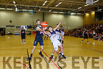 Padraig Lucey Scotts Lakers gets to the rebound ahead of Liam Broderick LIT during their National League game in Killarney on Sunday