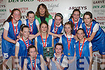 Tralee Imperials team that defeated St Marys in the U14 Girls A final final at the St Mary's Basketball Blitz in Castleisland on Wednesday front row l-r: Niamh Myers, Courtney Ryan. Middle row: Cliodhna Hayes, Shauna Hannafin, Caoimhe Crowe, Ciara Kilgallen. Back row: Maeve Crowley, Jane Carmody, Carmelita Ryan, Aoife Crowley, Sinead Brosnan and Grainne Quigley