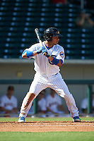Mesa Solar Sox catcher Willson Contreras (40) at bat during an Arizona Fall League game against the Scottsdale Scorpions on October 19, 2015 at Sloan Park in Mesa, Arizona.  Scottsdale defeated Mesa 10-6.  (Mike Janes/Four Seam Images)