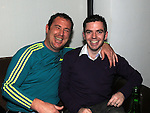 Brian Dunne and Jory Kierans pictured at Mairead Kieran's 30th birthday in Brú. Photo:Colin Bell/pressphotos.ie