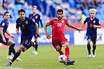 Sami Mohamed Alhusaini of Bahrain (R) in action during the AFC Asian Cup UAE 2019 Group A match between Bahrain (BHR) and Thailand (THA) at Al Maktoum Stadium on 10 January 2019 in Dubai, United Arab Emirates. Photo by Marcio Rodrigo Machado / Power Sport Images