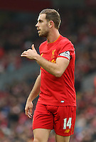 Jordan Henderson (captain) of Liverpool during the Premier League match between Liverpool and Swansea City at Anfield, Liverpool, Merseyside, England, UK. Saturday 21 January 2017