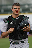 Devin Mesoraco #36 of the Lynchburg Hillcats coming in from the bullpen before a game against the Myrtle Beach Pelicans at BB&T Coastal Field on May 25, 2010 in Myrtle Beach. Photo by Robert Gurganus/Four Seam Images.