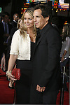 """Actress Christine Taylor and actor Ben Stiller arrive to the """"Iron Man"""" premiere at Grauman's Chinese Theatre on April 30, 2008 in Hollywood, California."""