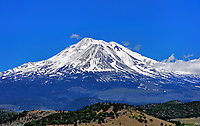 The view of Mount Shasta from the west side. Northern California.