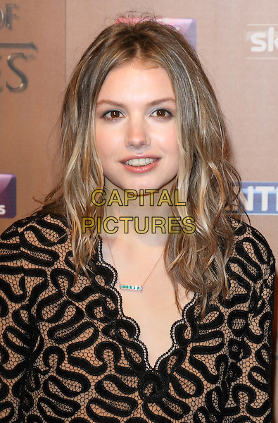 LONDON, ENGLAND - MARCH 18: Hannah Murray arrives for the world premiere of Game of Thrones Season 5 at Tower of London on March 18, 2015 in London, England<br /> CAP/ROS<br /> &copy; Steve Ross/Capital Pictures