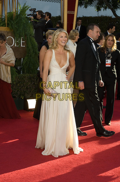 "ALI LARTER.Red Carpet Arrivals - 64th Annual Golden Globe Awards, Beverly Hills HIlton, Beverly Hills, California, USA..January 15th 2007.globes full length white plunging neckline dress.CAP/AW.Please use accompanying story.Supplied by Capital Pictures.© HFPA"" and ""64th Golden Globe Awards"""