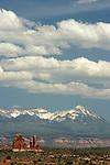 La Sal Mountains, Arches National Park, Utah, USA