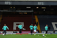 The Blackburn Rovers squad during the pre-match warm-up <br /> <br /> Photographer Kevin Barnes/CameraSport<br /> <br /> The EFL Sky Bet Championship - Blackburn Rovers v Wigan Athletic - Tuesday 12th March 2019 - Ewood Park - Blackburn<br /> <br /> World Copyright © 2019 CameraSport. All rights reserved. 43 Linden Ave. Countesthorpe. Leicester. England. LE8 5PG - Tel: +44 (0) 116 277 4147 - admin@camerasport.com - www.camerasport.com