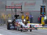 Apr 12, 2015; Las Vegas, NV, USA; NHRA top fuel driver Steve Torrence during the Summitracing.com Nationals at The Strip at Las Vegas Motor Speedway. Mandatory Credit: Mark J. Rebilas-