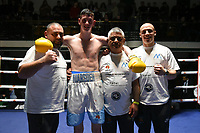 Connor Marsden (white shorts) defeats Stu Greener during a Boxing Show at York Hall on 15th February 2020