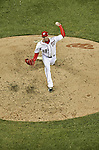 12 October 2012: Washington Nationals pitcher Sean Burnett on the mound during Postseason Playoff Game 5 of the National League Divisional Series against the St. Louis Cardinals at Nationals Park in Washington, DC. The Cardinals rallied with four runs in the 9th inning to defeat the Nationals 9-7; thus winning the NLDS and moving on to the NL Championship Series. Mandatory Credit: Ed Wolfstein Photo