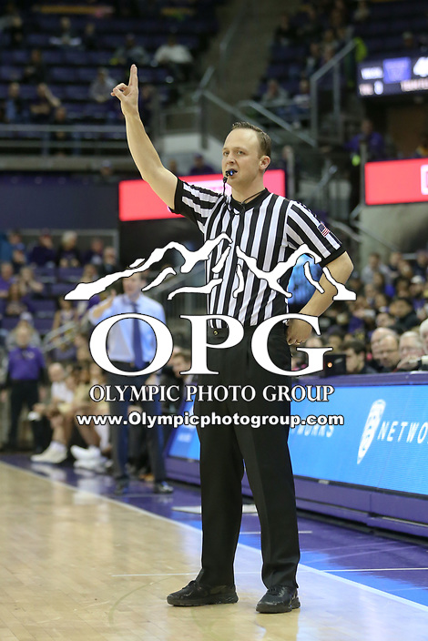 SEATTLE, WA - DECEMBER 17: NCAA Basketball ref Nate Harris was on hand for the game between Loyola Marymount's and Washington.  Washington won 75-63 over Loyola Marymount at Alaska Airlines Arena in Seattle, WA.