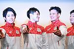 (L-R) Ryohei Kato, Kohei Uchimura, Yusuke Tanaka, Koji Yamamuro (JPN), <br /> JULY 19, 2016 - Artistic Gymnastics : <br /> Japan Men's Artistic Gymnastics national team send-off press conference <br /> for the Rio 2016 Olympic Games in Tokyo, Japan. <br /> (Photo by AFLO SPORT)