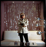 Barbara Hulanicki, designer of the Marlin, Kent and Netherland Hotel in Miami Beach, Florida, 2004.