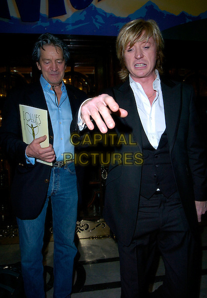 "PATRICK MOWER & NICKY CLARKE.Attends ""Follies"" Gala Concert at the London Palladium,.London, England, February 4th 2007..half length hand funny face.CAP/CAN.©Can Nguyen/Capital Pictures"