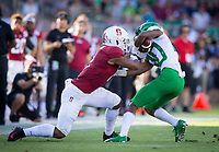 Stanford, CA - September 21, 2019: Curtis Robinson at Stanford Stadium. The Stanford Cardinal fell to the Oregon Ducks 21-6.