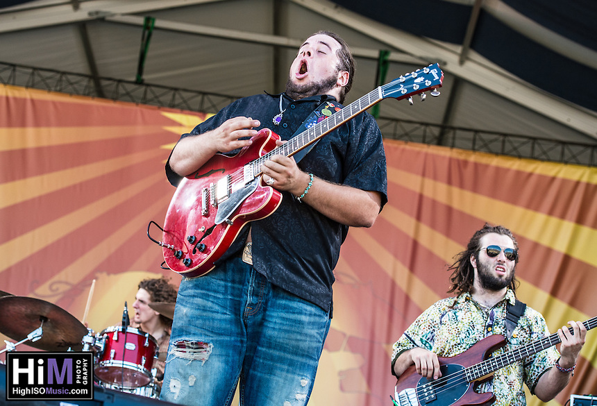 Jonathon Boogie Long performs at Jazz Fest 2014 in New Orleans, LA on Day 7.