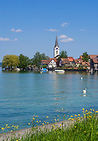 CHE, Schweiz, Kanton Thurgau, Berlingen am Suedufer des Untersees, dem westlichen Teil des Bodensees | CHE, Switzerland, Canton Thurgau, Berlingen at Lake Constance