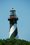 FL: St. Augustine, Florida, lighthouse, 2005 .Image: flstaug201..Photo Copyright: Lee Foster, lee@fostertravel.com, www.fostertravel.com, (510) 549-2202.