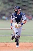 Detroit Tigers catcher Curt Casali #8 during an Instructional League game against the national team from China at Vero Beach Sports Complex on September 29, 2011 in Vero Beach, Florida.  (Mike Janes/Four Seam Images)