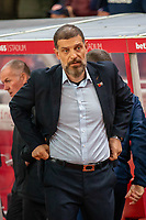 4th November 2019; Bet365 Stadium, Stoke, Staffordshire, England; English Championship Football, Stoke City versus West Bromwich Albion; West Bromwich Albion Head Coach Slaven Bilic - Strictly Editorial Use Only. No use with unauthorized audio, video, data, fixture lists, club/league logos or 'live' services. Online in-match use limited to 120 images, no video emulation. No use in betting, games or single club/league/player publications