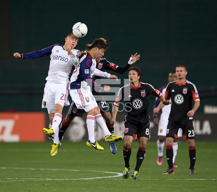 Luis Gil, Sebastian Velasquez, Marcos Sanchez.  D.C. United defeated Real Salt Lake, 1-0, at RFK Stadium.