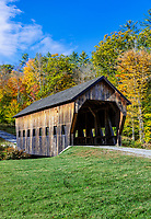 Rustic covered bridge.