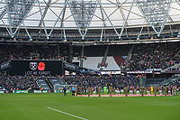 Lest we ForgetLest we forget during West Ham United vs Burnley, Premier League Football at The London Stadium on 3rd November 2018