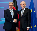 120416: Joachim GAUCK, President of Germany, meets Herman Van ROMPUY, President of European Council