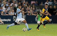 Kansas City, KS - Wednesday September 20, 2017: Latif Blessing during the 2017 U.S. Open Cup Final Championship game between Sporting Kansas City and the New York Red Bulls at Children's Mercy Park.