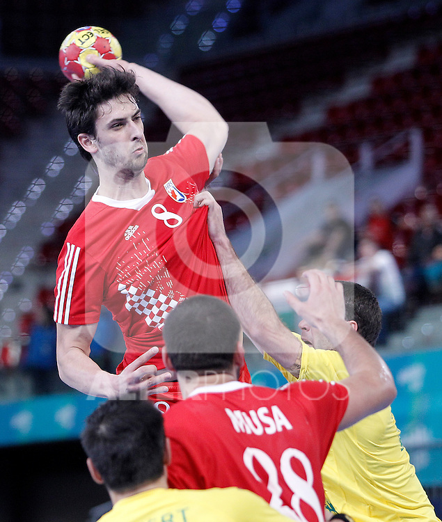 Croatia's Marko Kopljar during 23rd Men's Handball World Championship preliminary round match.January 12 ,2013. (ALTERPHOTOS/Acero)