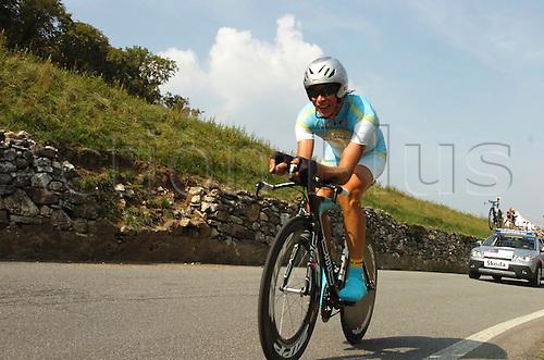 24th September 2009: World Championships men's elite cronometro, Kazakistan, Kashechkin Andrey, Mendrisio. Photo by Stefano Sirotti/ActionPlus.