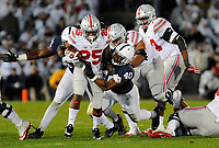 STATE COLLEGE, PA - OCTOBER 22:  Penn State LB Jason Cabinda (40) tackles Ohio State RB Mike Weber (25). The Penn State Nittany Lions upset the #2 ranked Ohio State Buckeyes 24-21 on October 22, 2016 at Beaver Stadium in State College, PA. (Photo by Randy Litzinger/Icon Sportswire)