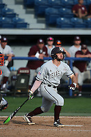 Ryne Birk (2) of the Texas A&M Aggies bats against the Pepperdine Waves at Eddy D. Field Stadium on February 26, 2016 in Malibu, California. Pepperdine defeated Texas A&M, 7-5. (Larry Goren/Four Seam Images)