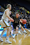 SALEM, VA - MARCH 17: Nebraska Wesleyan Prairie Wolves forward Ryan Garver (23) drives to the hoop during the Division III Men's Basketball Championship held at the Salem Civic Center on March 17, 2018 in Salem, Virginia. Nebraska Wesleyen defeated Wisconsin-Oshkosh 78-72 for the national title. (Photo by Andres Alonso/NCAA Photos/NCAA Photos via Getty Images)
