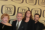 "One Day At A Time - Bonnie Franklin, Pat Harrington, Mackenzie Phillips and Glenn Scarpelli honored with Innovator Award at the 10th Anniversary of the TV Land Awards on April 14, 2012 to honor shows ""Murphy Brown"", ""Laverne & Shirley"", ""Pee-Wee's Playhouse"", ""In Loving Color"" and ""One Day At A Time"" and Aretha Franklin at the Lexington Armory, New York City, New York. (Photo by Sue Coflin/Max Photos)"