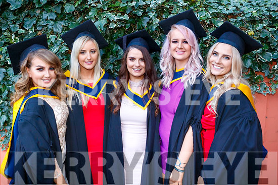 Natalie Daly (Tralee), Rachel McElligott (Kilmoyley), Elaine Doody (Castleisland), Suzanne Barron (Causeway) and Aisling King (Tralee), who graduated in General Nursing from IT, Tralee on Friday morning last, at the Brandon Conference Centre, Tralee.
